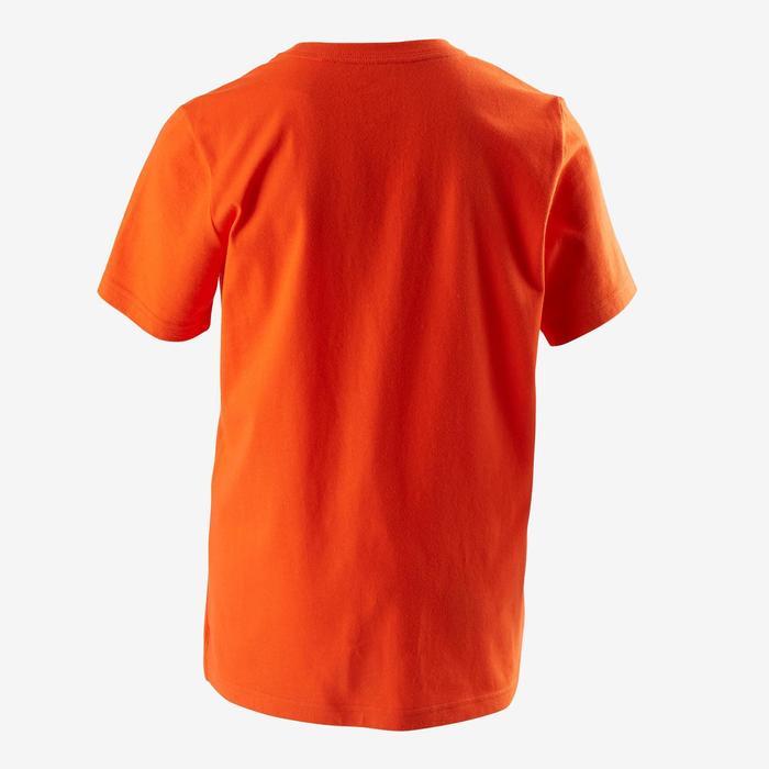 Camiseta de Manga Corta Gimnasia Adidas Logotipo Niño Naranja Adidas ... d6c63884f2ada