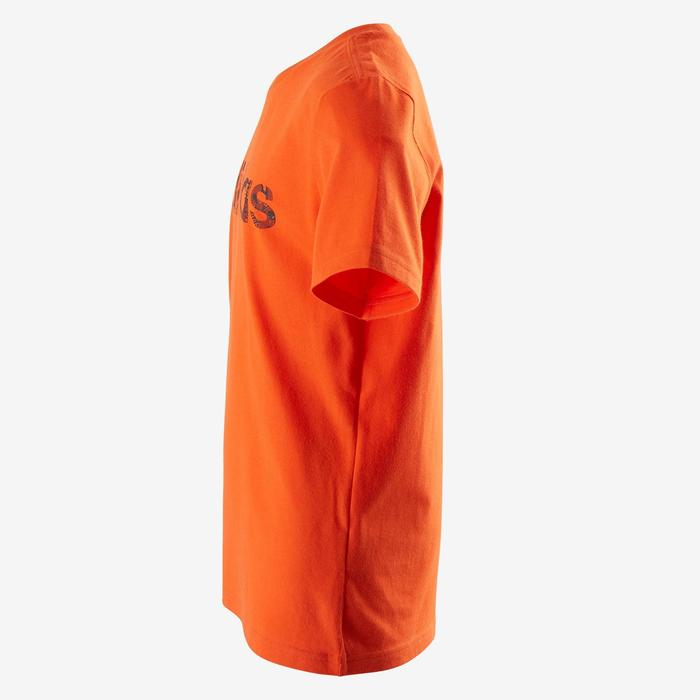 Camiseta Manga Corta Deportiva Gimnasia Adidas S1 Niño Naranja
