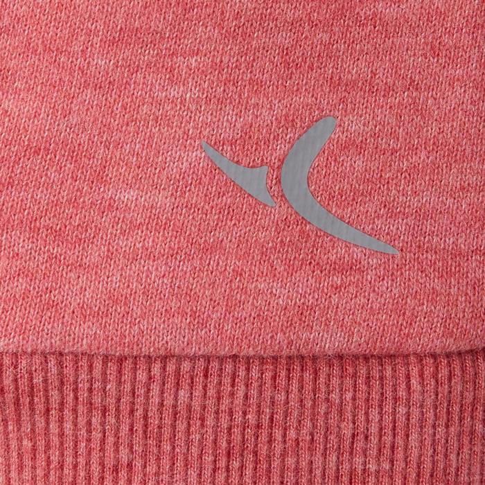 女款溫和健身與皮拉提斯高領連帽外套500 - 粉紅色