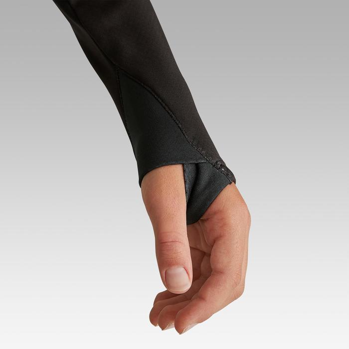 Trainingssweater voor voetbal kinderen 1/2 rits T900 zwart/donkergrijs