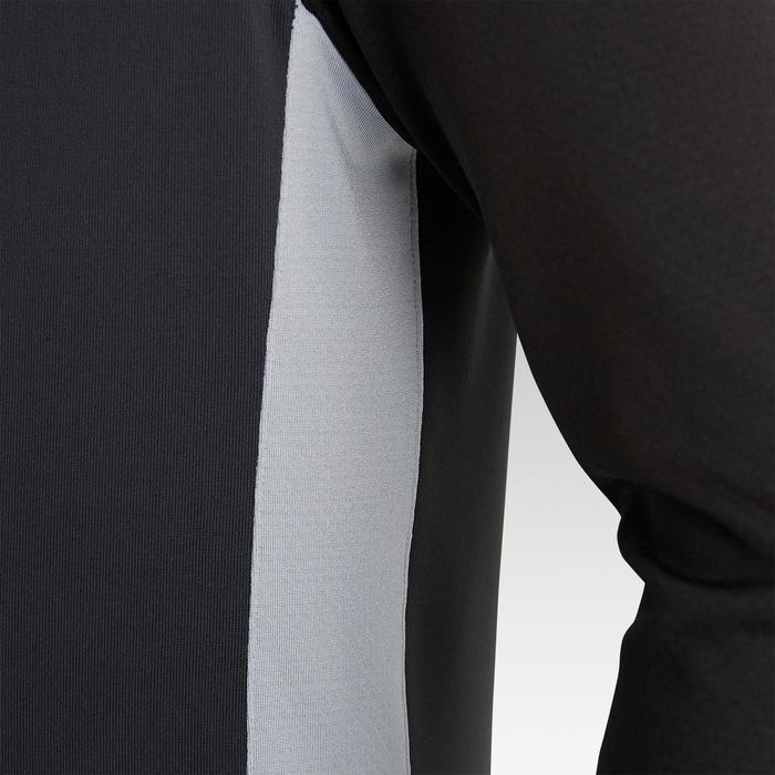 1/2 zip de football enfant 1/2 ZIP T 900 noir et gris