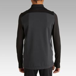 Voetbalsweater met 1/2 rits voor kinderen T900 zwart/grijs