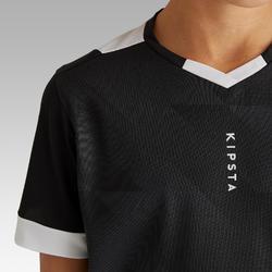 Fußballtrikot kurzarm F 500 Kinder schwarz/weiß