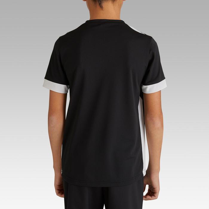 Camiseta de Fútbol júnior Kipsta F500 negro y blanco