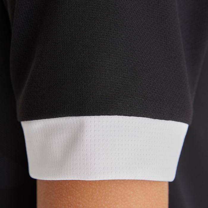 Maillot de football enfant manche courte F500 noir et blanc