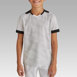 Voetbalshirt korte mouwen voor kinderen F500 wit en zwart