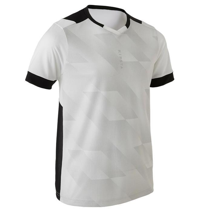 Maillot de football enfant manche courte F500 blanc et noir