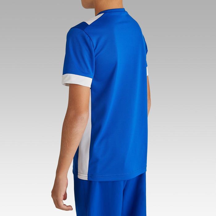 Maillot de football enfant manche courte F500 Bleu