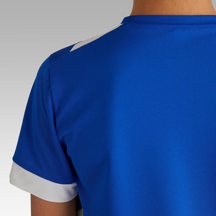 Camiseta de Fútbol júnior Kipsta F500 azul y blanco