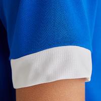F500 Short-Sleeved Soccer Shirt Blue/White - Kids'