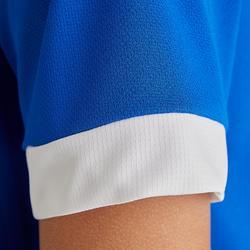 Voetbalshirt korte mouwen voor kinderen F500 blauw en wit