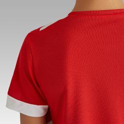 Camiseta de Fútbol júnior Kipsta F500 rojo y blanco