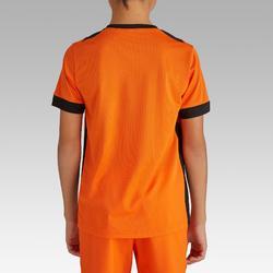 Camiseta de Fútbol júnior Kipsta F500 naranja y negro