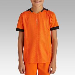 Voetbalshirt korte mouwen voor kinderen F500 oranje en zwart