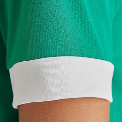 兒童款短袖足球上衣F500-綠色/白色