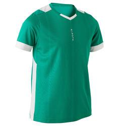 F500 Kids' Short-Sleeved Football Shirt - Green/White