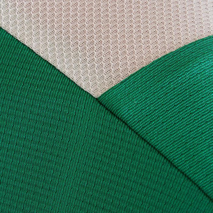 Fußballtrikot kurzarm F500 Kinder grün/weiß