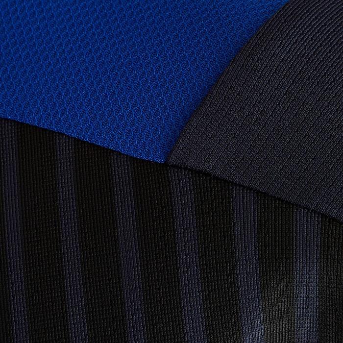 Voetbalshirt korte mouwen voor kinderen F500 marineblauw en blauw