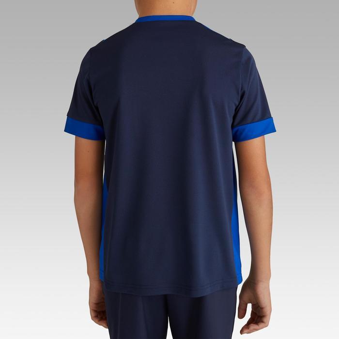 Fußballtrikot kurzarm F500 Kinder marineblau/blau