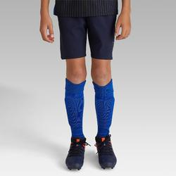 Short de football enfant 500 bleu marine