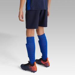 Voetbalshort F500 kinderen marineblauw