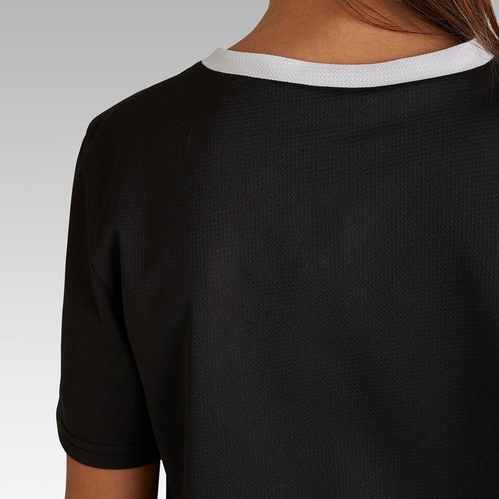Voetbalshirt voor kinderen F100 zwart