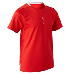 Camiseta de Fútbol júnior Kipsta F100 rojo