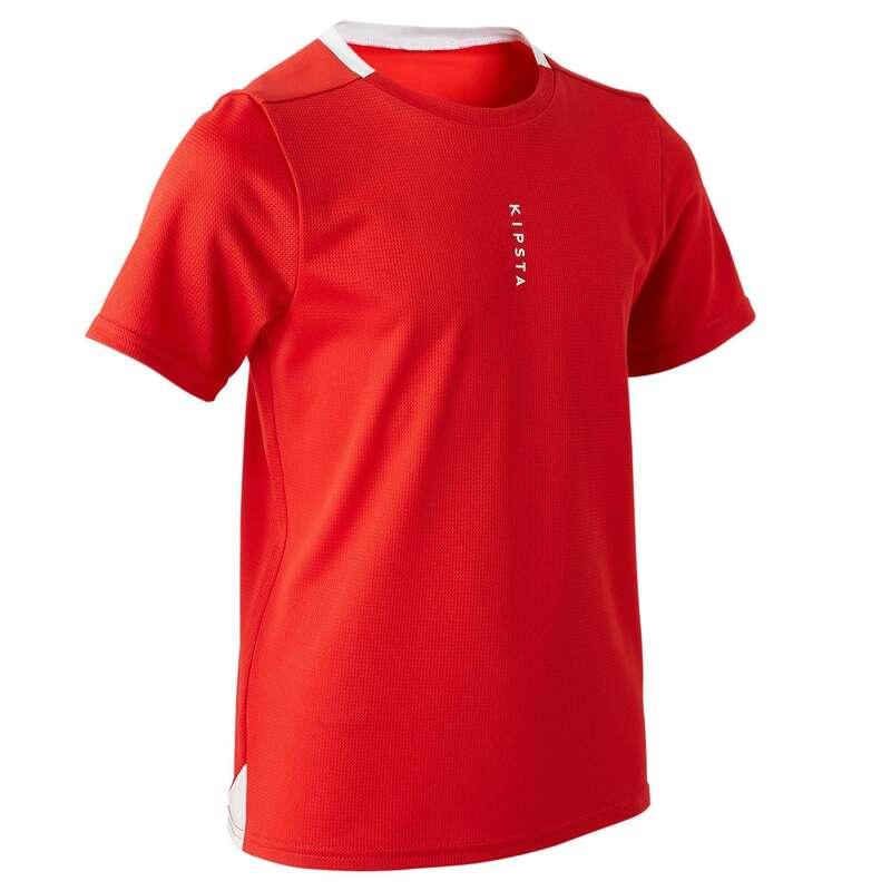 OBLAČILA ZA TOPLO VREME ZA OTROKE Oblačila - Kratka majica F100 KIPSTA - Kratke majice