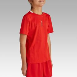 兒童款足球上衣F100-紅色