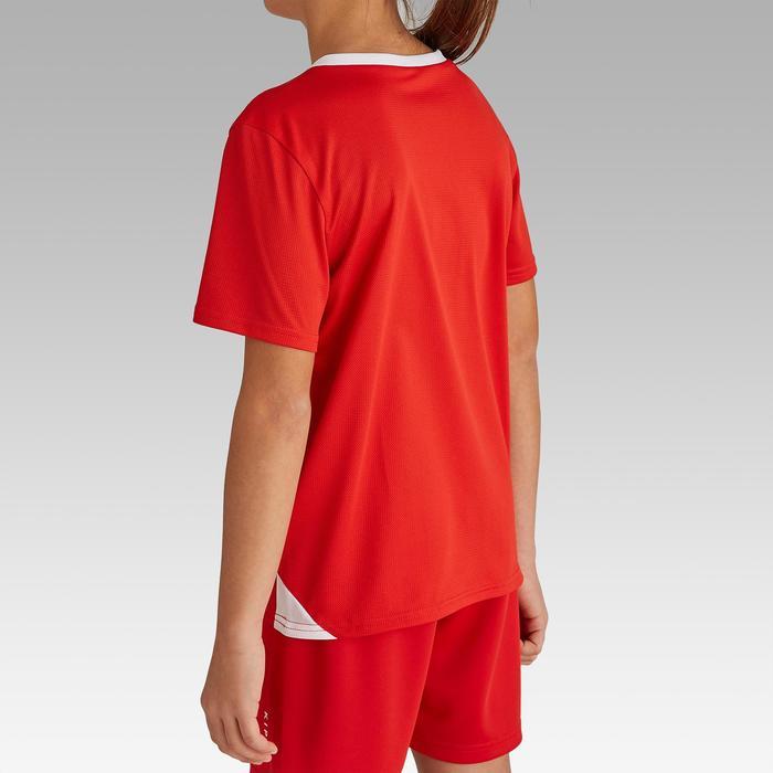 Camiseta de Fútbol Kipsta F100 niños rojo