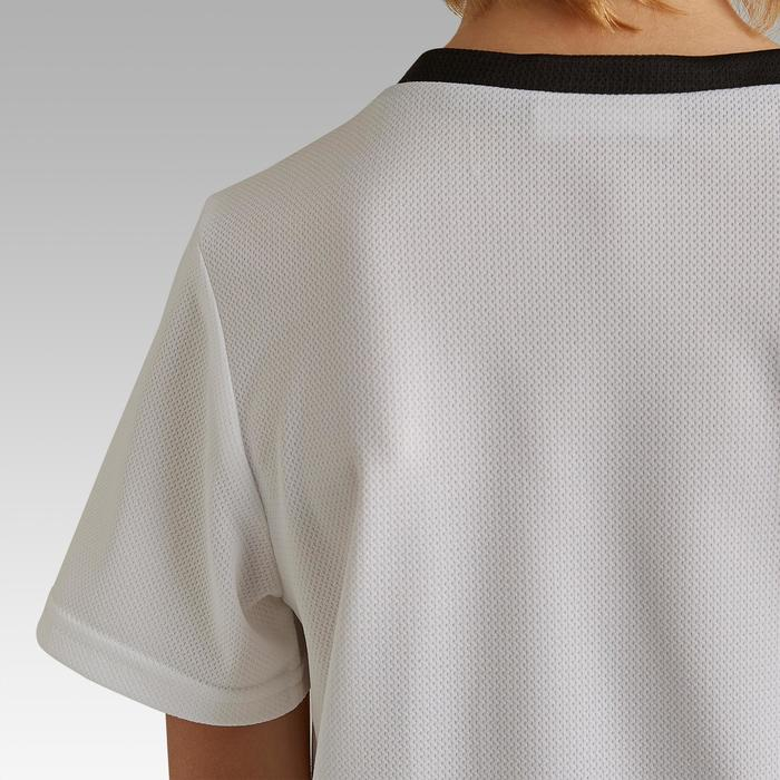 Camiseta de fútbol júnior F100 blanco