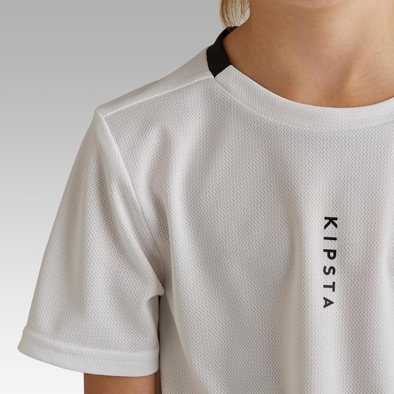 Polera de fútbol Infantil F100 blanca