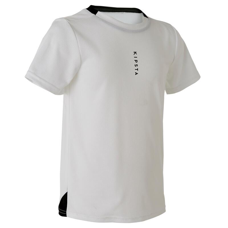 Camiseta de Fútbol Kipsta F100 niños blanco