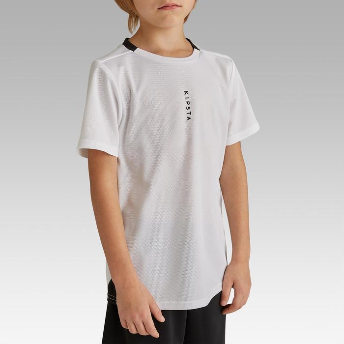 Voetbalshirt F100 voor kinderen wit