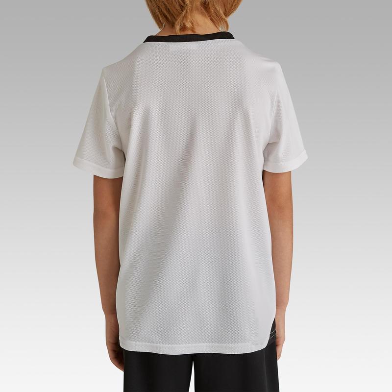 Maillot de football enfant F100 Blanc