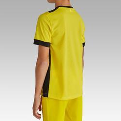 Maillot de football enfant manche courte F500 jaune et noir