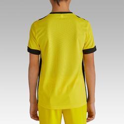 Fußballtrikot kurzarm F500 Kinder gelb/schwarz