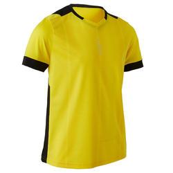 Voetbalshirt kind F500 geel/zwart