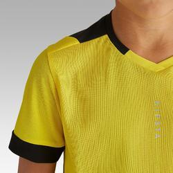 Camiseta de Fútbol júnior Kipsta F500 amarillo y negro
