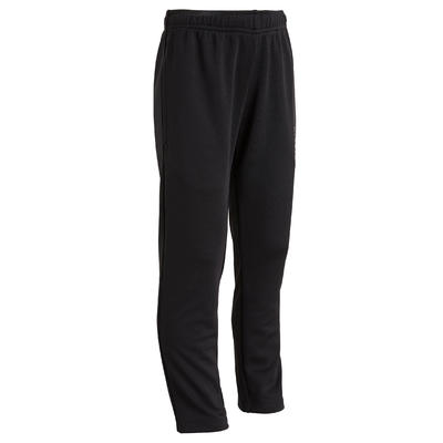 T100 Kids' Football Training Bottoms - Black
