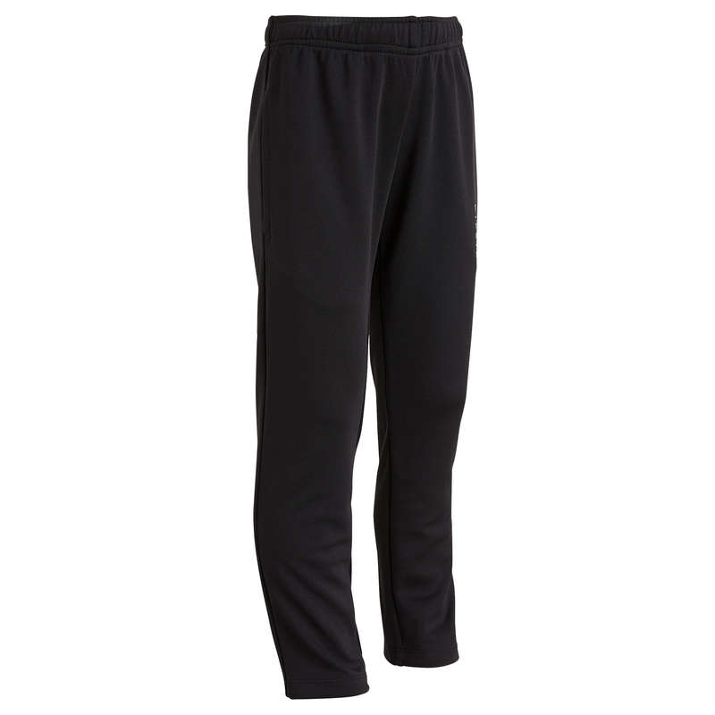 JR COLD WEATHER OUTFIT - T100 Kids training bottoms - Black KIPSTA