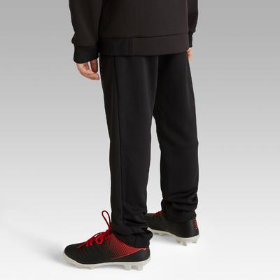 Pantalón de entrenamiento de fútbol júnior T100 negro