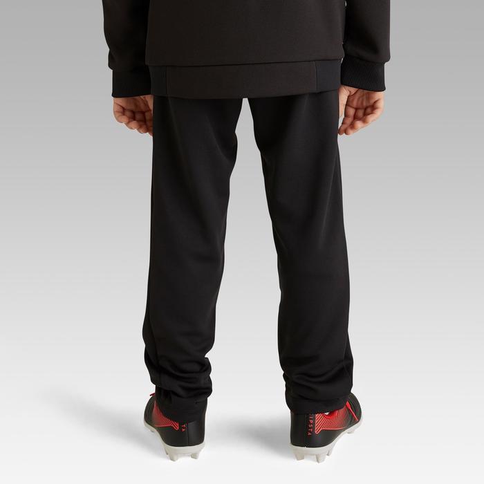 Pantalón de entrenamiento de fútbol júnior T100 negro Kipsta  842203aed4d6e
