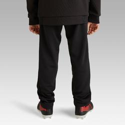 Pantalon d'entrainement de football enfant T100 noir