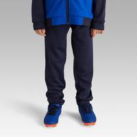 Pantalon d'entraînement de soccer enfant T100 bleu marine