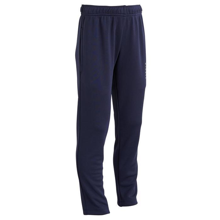 Pantalon d'entraînement de football enfant T100 bleu marine