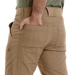 Pantalon de Montaña y Senderismo Quechua NH500 Hombre Marrón