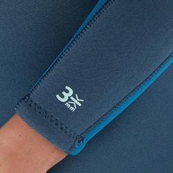 Neoprenanzug Tauchen SCD 100 Neopren 3mm Rückenverschluss Damen