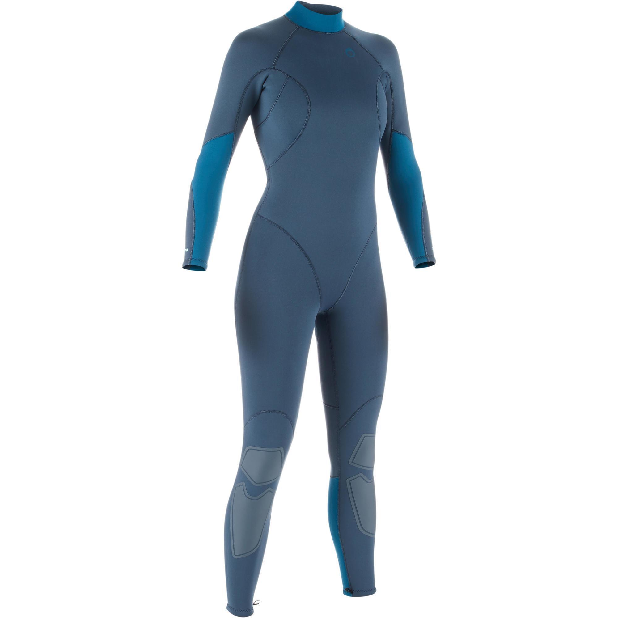 Neoprenanzug Tauchen SCD 100 Neopren 3 mm Rückenverschluss Damen | Sportbekleidung > Sportanzüge > Sonstige Sportanzüge | Grau - Blau | Ab - Gummi | Subea