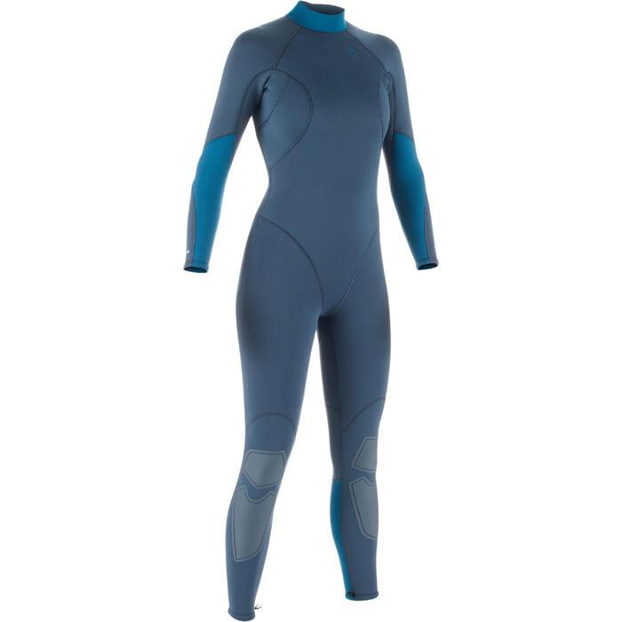 Women's SCD 100 3mm neoprene back zip scuba diving wetsuit